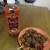 甘栄堂 - 料理写真:ペットボトルとたこ焼き