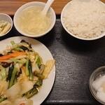 130831805 - イカの辛し炒め定食
