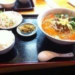 健康中華 青蓮 - 担々麺セット (950円)