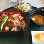 大山アークカントリークラブ レストラン - スタミナステーキ重 1,580円