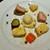 HIYOMORi - 料理写真:センターにはトリュフオイルと刻んだ黒トリュフ入りの大人向けポテトサラダ、その周りに3種類の前菜が