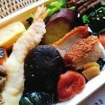 御料理 寺沢 - 贅沢のり弁当の贅沢なおかず