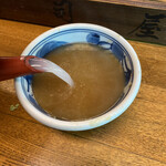 130862526 - 蕎麦湯は煮詰めたトロトロのタイプです。量はタップリ頂けます