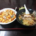 中華料理 梧桐 - 【2020.5.31(日)】ラーメンセット(醤油ラーメン+麻婆飯)715円
