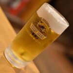 福龍菜館 - 晩酌コース3点セット(980円+税)の『生ビール』2020年5月