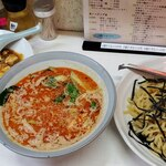 勝楽 - Fセット 坦々つけ麺+半麻婆豆丼