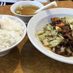 石狩亭 - 回鍋肉 750円・並ライス 200円