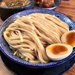 下品なぐらいダシのうまいラーメン屋 - *つけ麺 ダイブめしセット(¥860) +味玉トッピング(¥100)