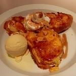 タイムカフェ - クリームチーズとバナナとフレンチトーストサンド