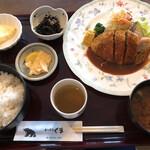 キッチンくま - 料理写真:メンチカツ定食