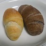 ベーカリーカフェ タンタアンナ - 「塩パン」&「黒米塩パン」