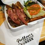 ベローズ フィールド ビーチ - テイクアウトの林檎ベーコン & チーズバーガー1520円