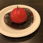 森の家珈琲店 - 真っ赤なりんごのケーキ