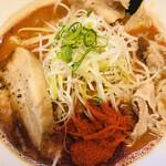 辛口肉ソバ ひるドラ - 肉ソバ味噌 辛さ2