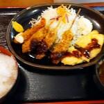 130918490 - かつはる得定食(ご飯大盛サービスで税込950円)