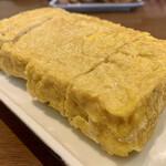 手打ちそば 毘沙門 - 蕎麦屋の玉子焼き