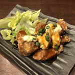 zensekikanzenkoshitsunikuzushijidorishinobitei - マグロの竜田揚げ ¥858