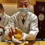 Shinohara - フォアグラとあんぽ柿の最中