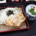麺八 - とり天ざる(ざるうどん+とり天)