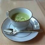 13096689 - 三角キャベツの冷製スープ