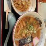 Aioimochihonten - 中華そばと焼き飯(小)のセット850円也
