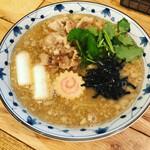 三代目佐久良屋 - 肉そば改(背脂入り)イワシとアジの煮干のWスープ!