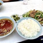珍々軒 - レバニラ炒めライス(900円)