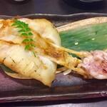 Matsuou - 自家製のやりいかの干物を炙って出して貰いました