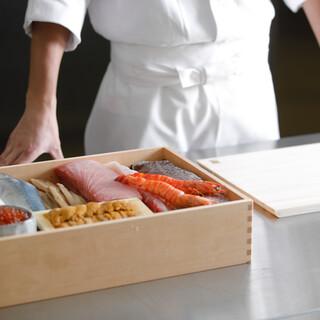 舞鶴港直送の魚介は天ぷらや寿司でご提供。多彩な逸品が並びます