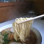 中華そば・三平 - 宇部ラーお決まりの麺