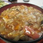 みち - ヤング定食:オイスターのコクでトロトロの中華丼