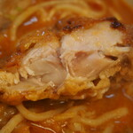 辛口肉ソバ ひるドラ - ①辛口肉ソバ味噌(カラアゲ)