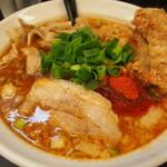 辛口肉ソバ ひるドラ - ②辛口肉ソバ醤油&カラアゲ