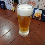 とび蔵 - 2020年5月 生ビール(ハッピータイム価格) 300円+税