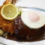 レストラン桂 - 海老フライ&ハンバーグ