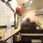 喜多方ラーメン 坂内 調布店 - 喜多方っぽい物が置いてあります。