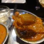 アヒリヤ - 北インドランチBの茄子のカレー