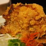 辛口肉ソバ ひるドラ - ③辛口肉まぜソバ味噌(カラアゲ)