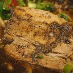 辛口肉ソバ ひるドラ - ④胡椒そば(厚切バラチャーシュー)