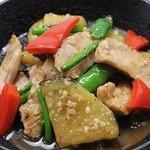 ほっとけや - 夏おすすめ★トントロと加茂茄子の塩麹炒め