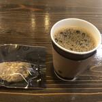 やなか珈琲店 - 本日のコーヒーMサイズとソフトクッキーで540円