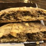 やなか珈琲店 - ソフトクッキー(エスプレッソ&クルミ)の断面