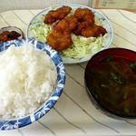 千里 - 唐揚げ定食(500円)