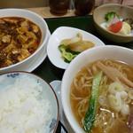 一品菜酒家 侠竹林 - 麻婆豆腐ランチ