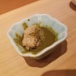 鮨 尚充 - 肝醤油にシャリ