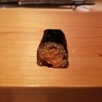 鮨 尚充 - 鮟肝 西瓜の奈良漬けの巻物