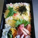 旬彩和創 清水亭 - 持ち帰りちらし寿司です。850円。