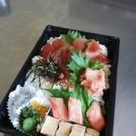 旬彩和創 清水亭 - 持ち帰り漬けマグロ丼です。1000円。