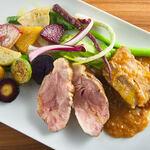 ダ フラーチェ - 沖縄豚2種と美野菜の盛り合わせ