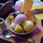 おいもカフェ 金糸雀 - おいも鎌倉パフェ 850円